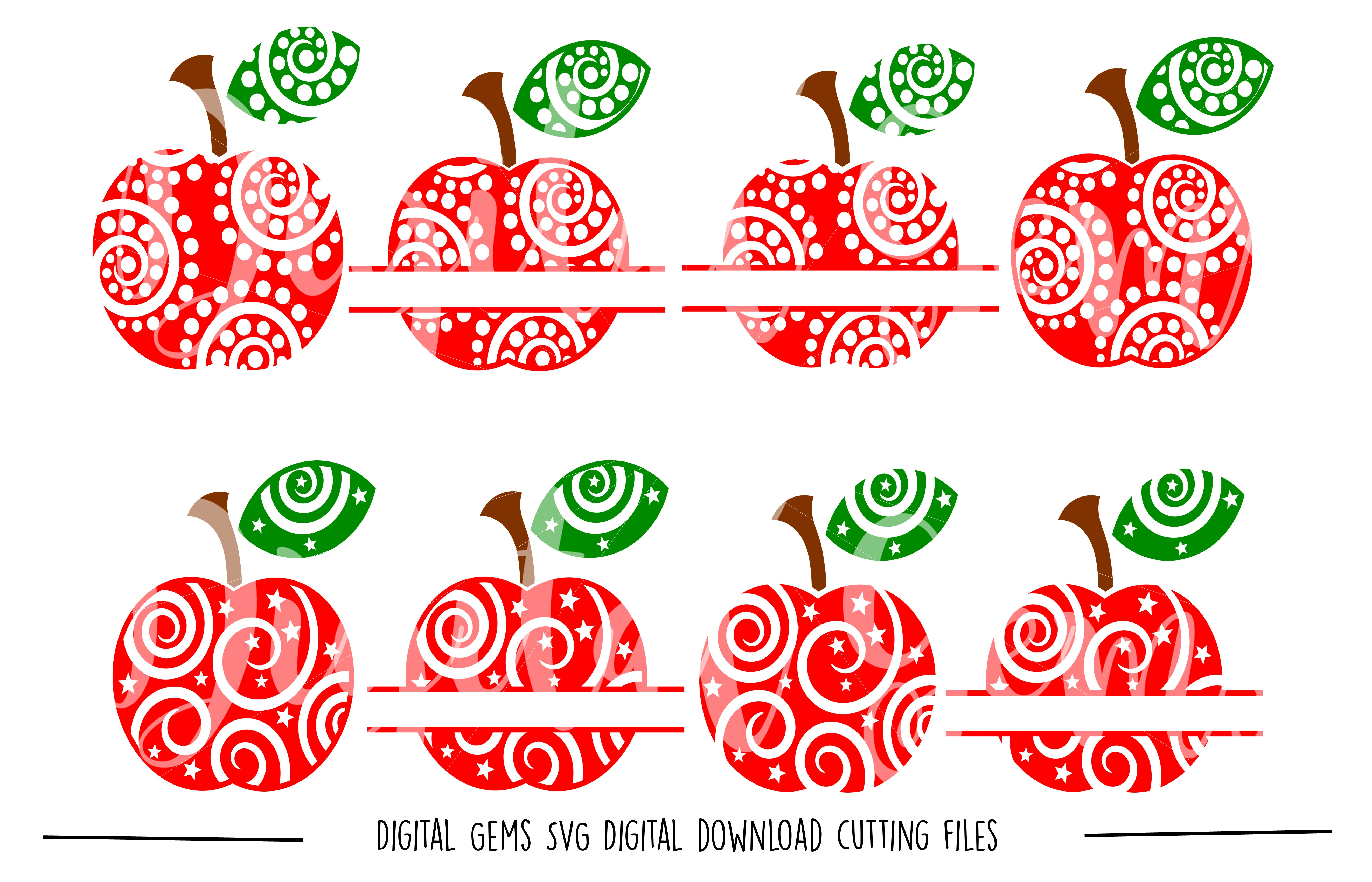 Apple SVG / DXF / EPS / PNG files example image 1