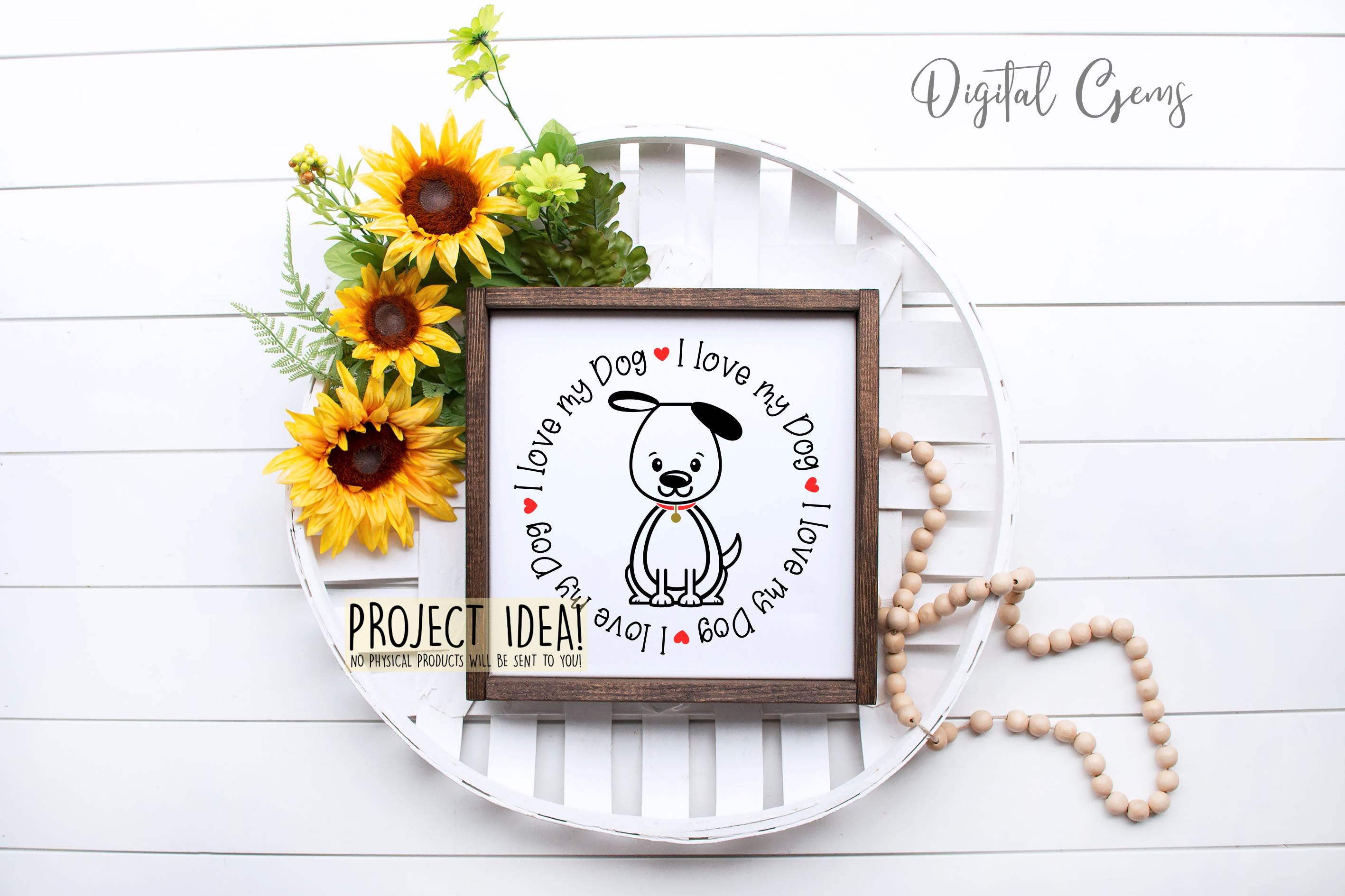 I love my Dog SVG / EPS / DXF / PNG Files example image 7