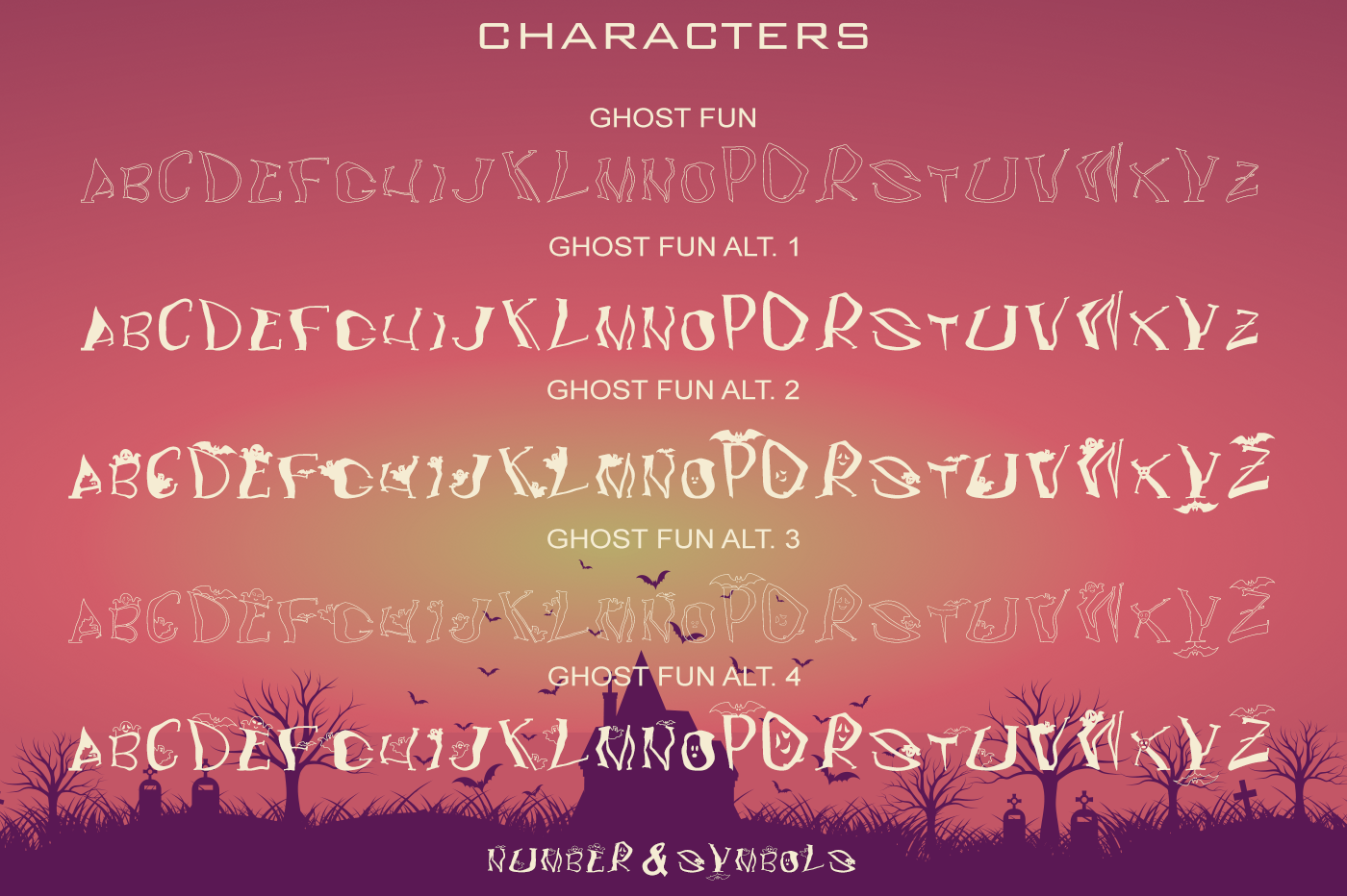 Ghost Fun Font Collection example image 8
