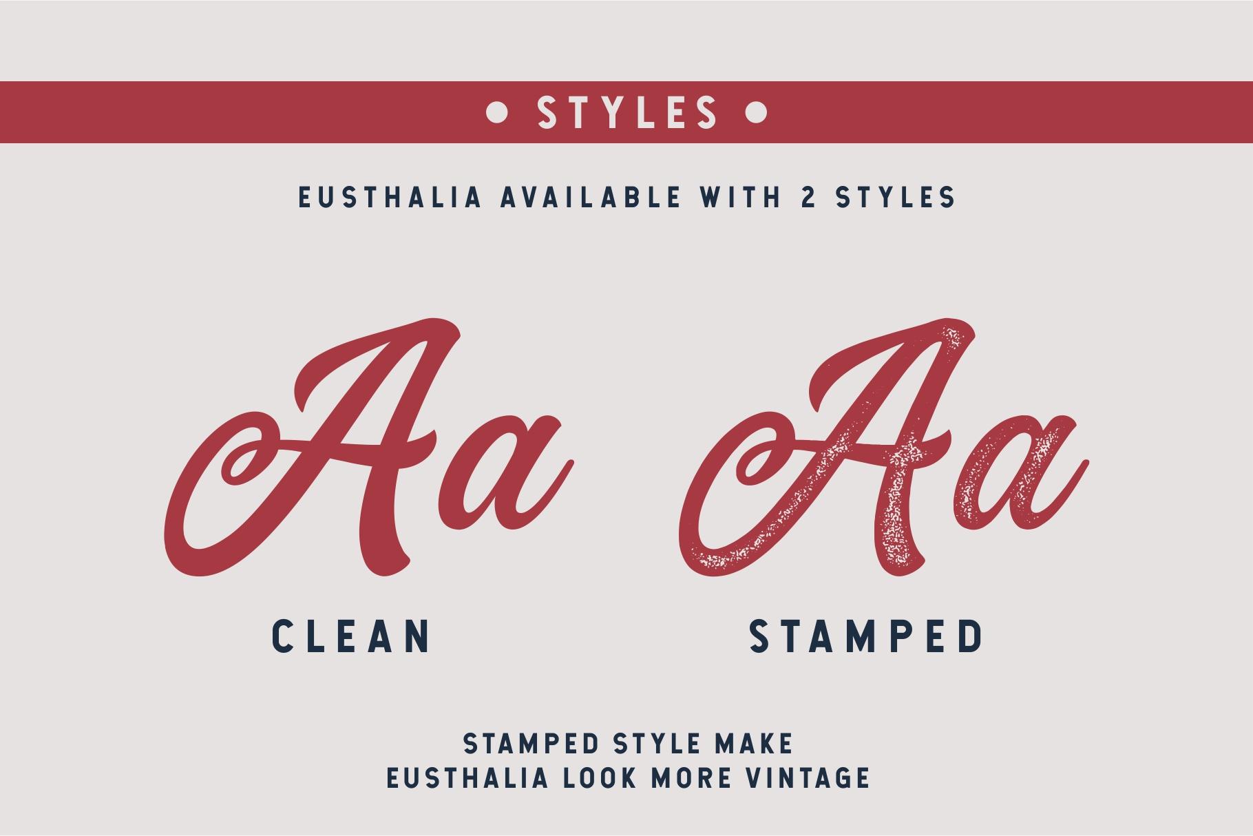 Eusthalia Typeface example image 2