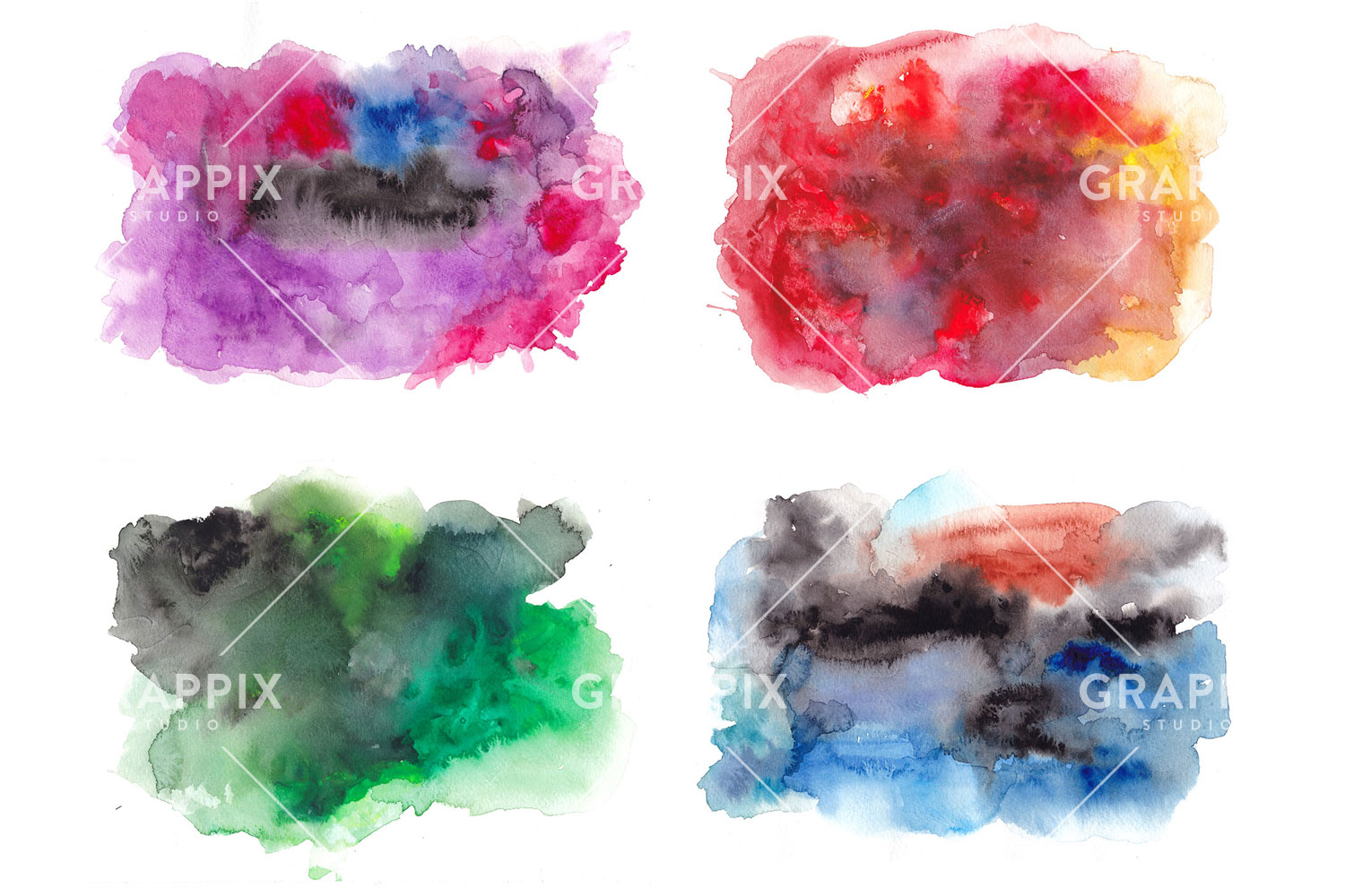14 Abstract Colorful Watercolor Backgrounds example image 3