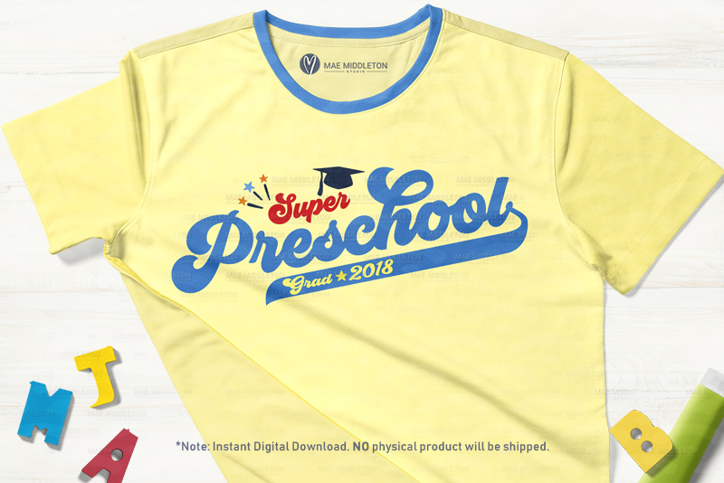 Mini Bundle Preschool, Kinder, Senior Grad - editable years example image 11