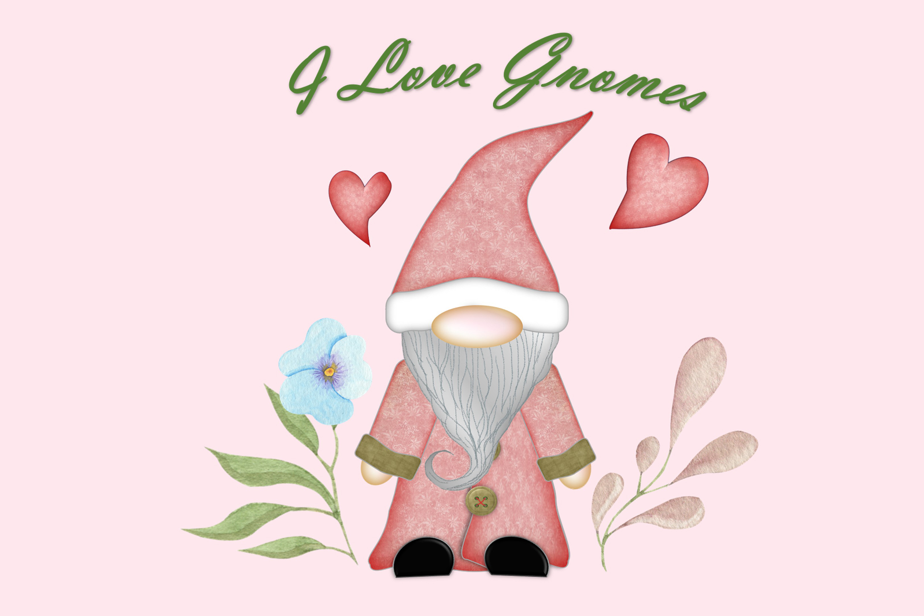 Scandinavian Gnomes Clipart, Sublimation, PNG, SVG and JPEG example image 4