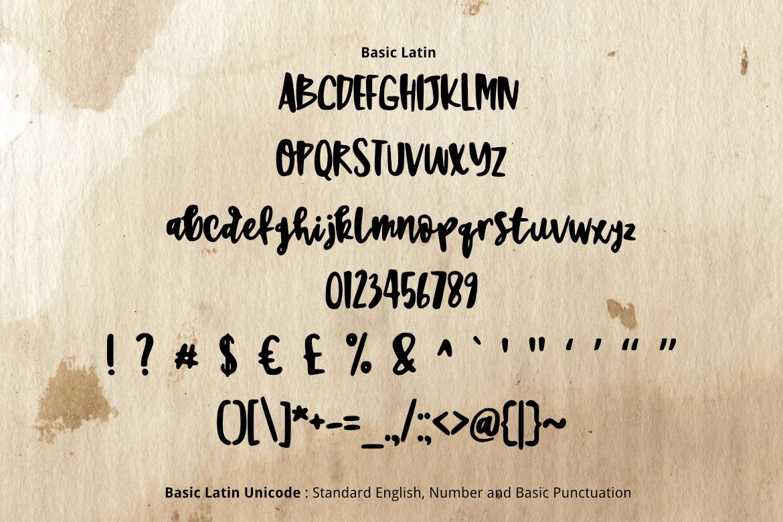 Sweet Brush Font example image 2