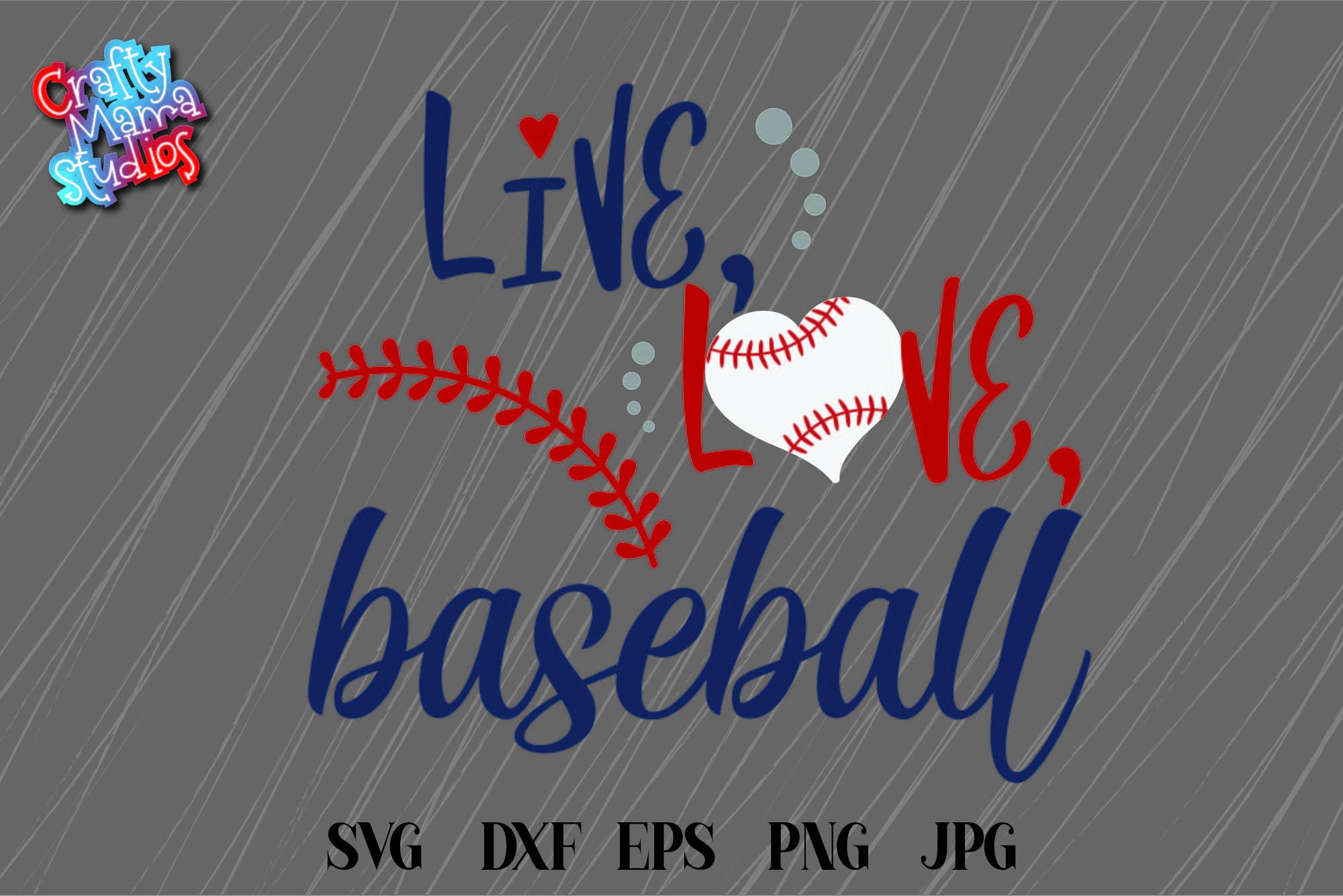 Baseball SVG, Live Love Baseball SVG, Baseball Is Life SVG example image 2