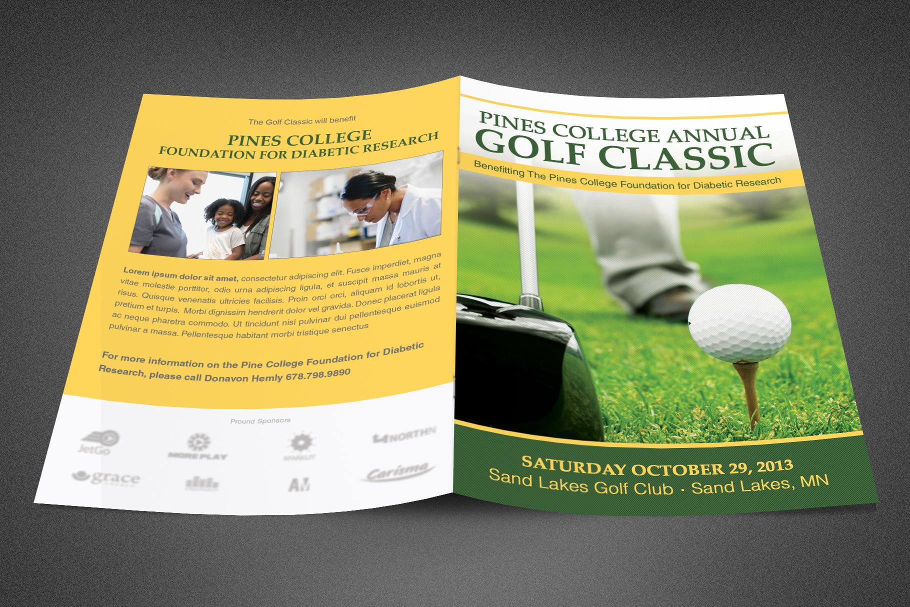 Golf Classic Booklet Template example image 2