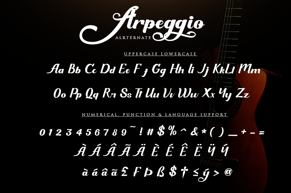 Arpeggio l Font Duo&6 Logo Templates example image 10