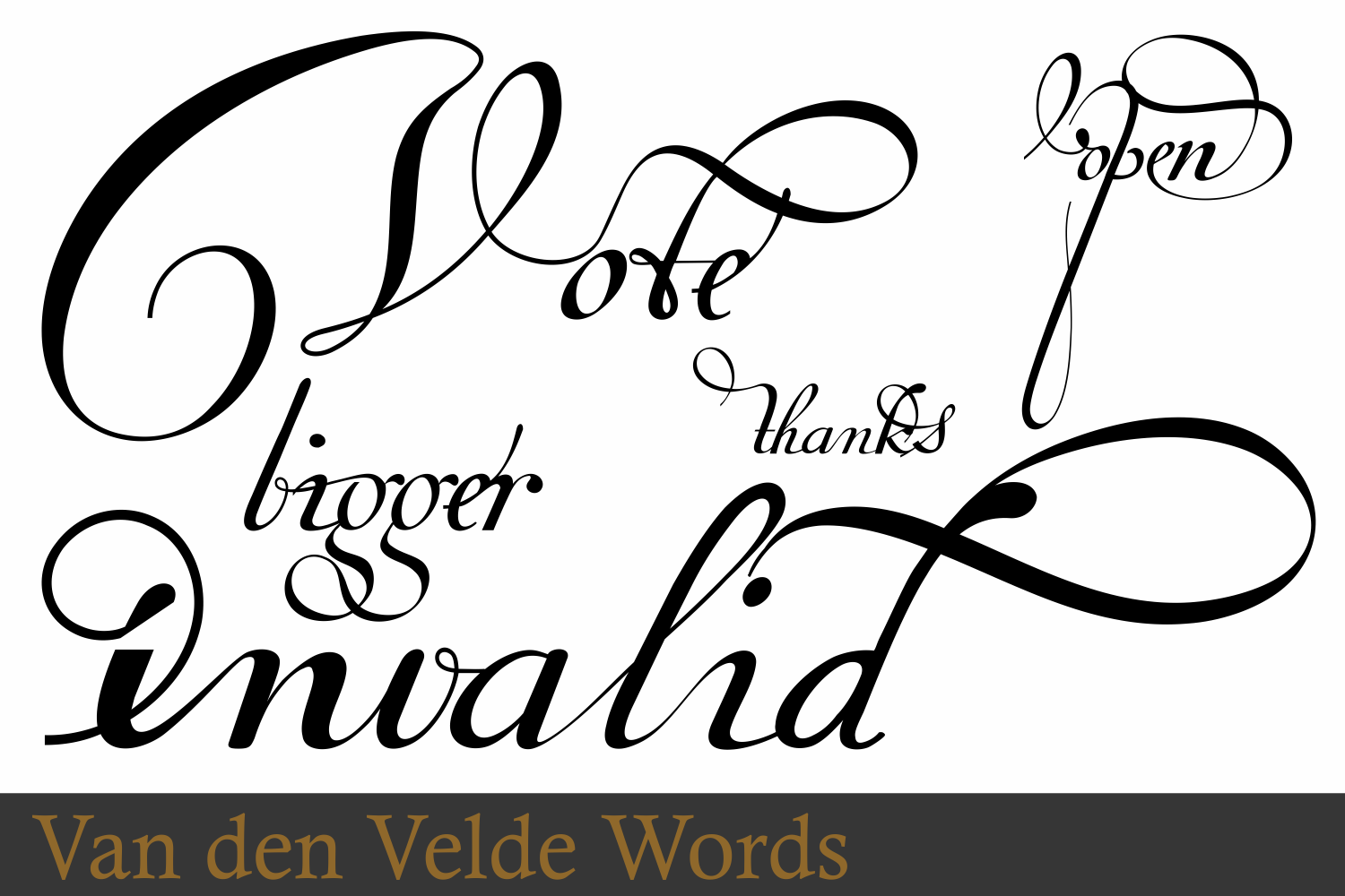 Van Den Velde Words example image 7