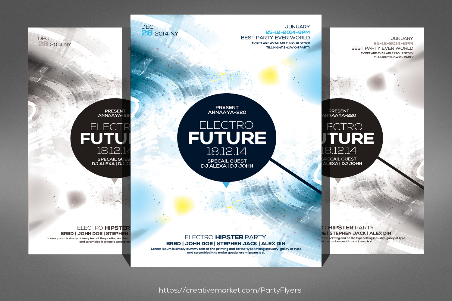 Electro Future Special Guest Flyer example image 1
