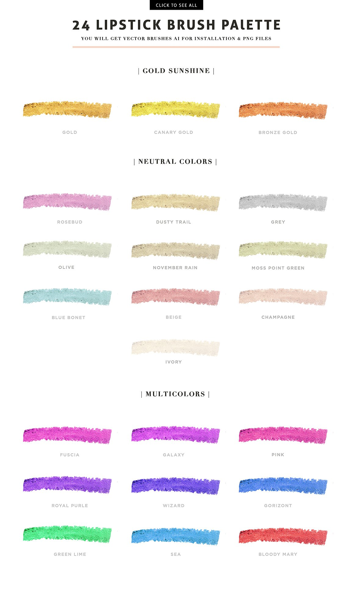 57 Vector Cream Brush - Trend colors example image 4