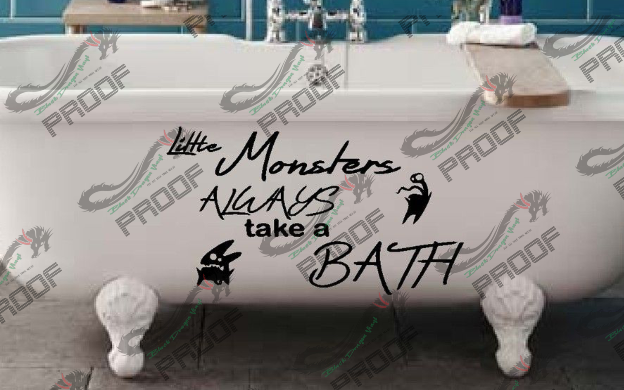 Little Monsters Always Take A Bath example image 2