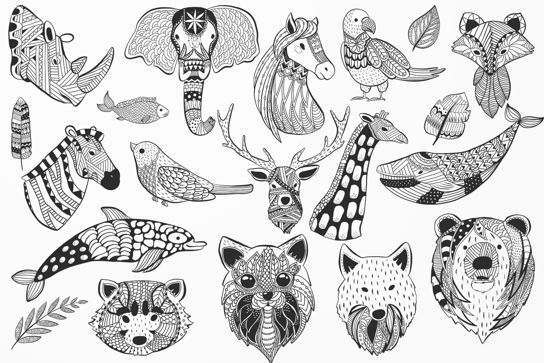 Zen Doodle Animals example image 2