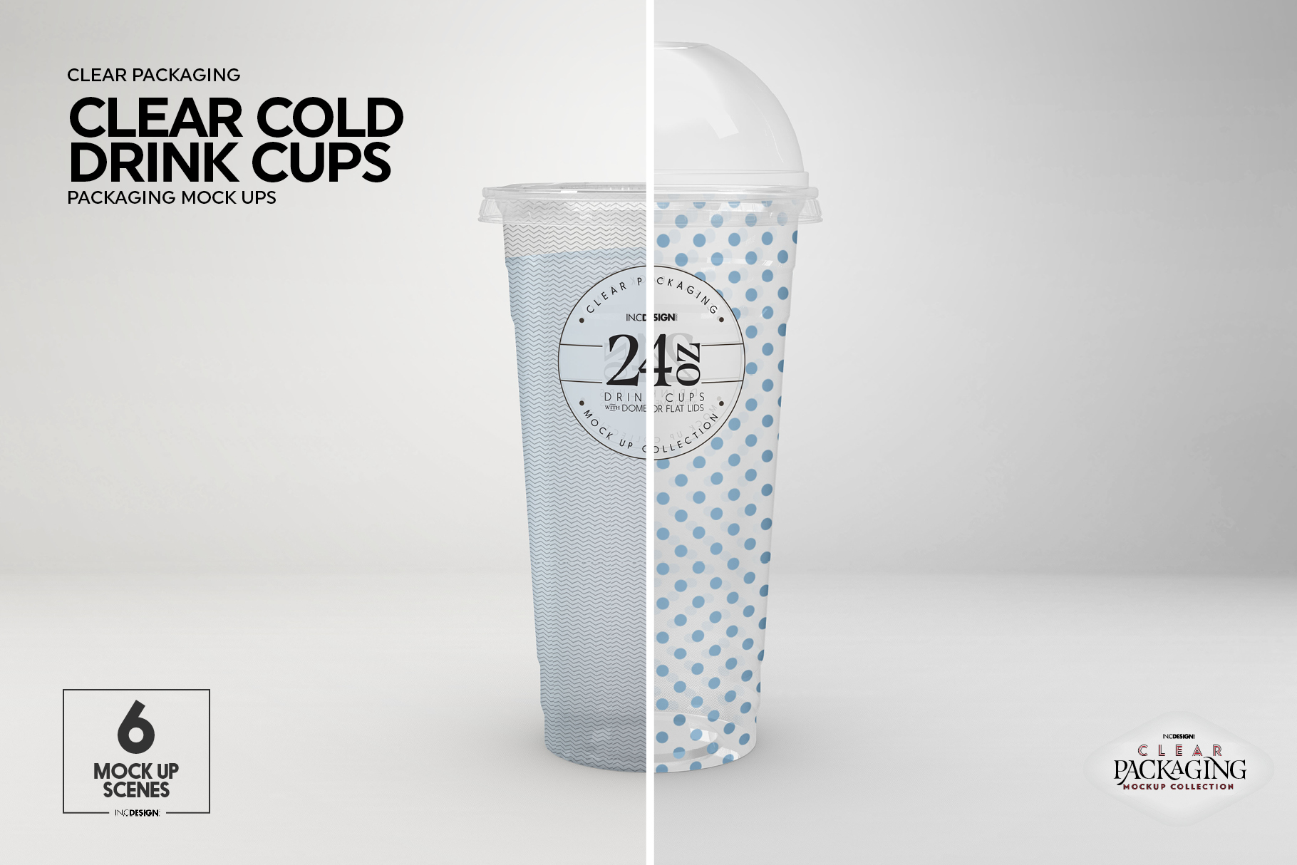 Clear Cold Drink Cups Packaging Mockup example image 18