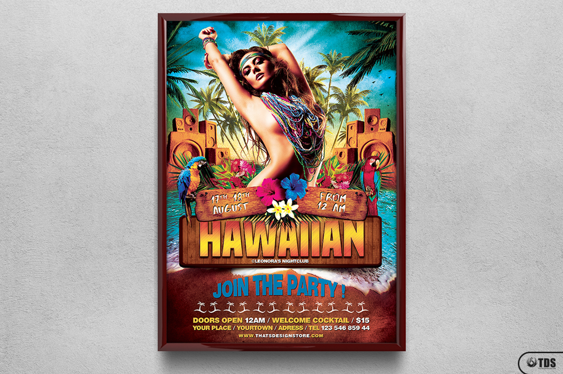 Beach Party Flyer Template V5 example image 6