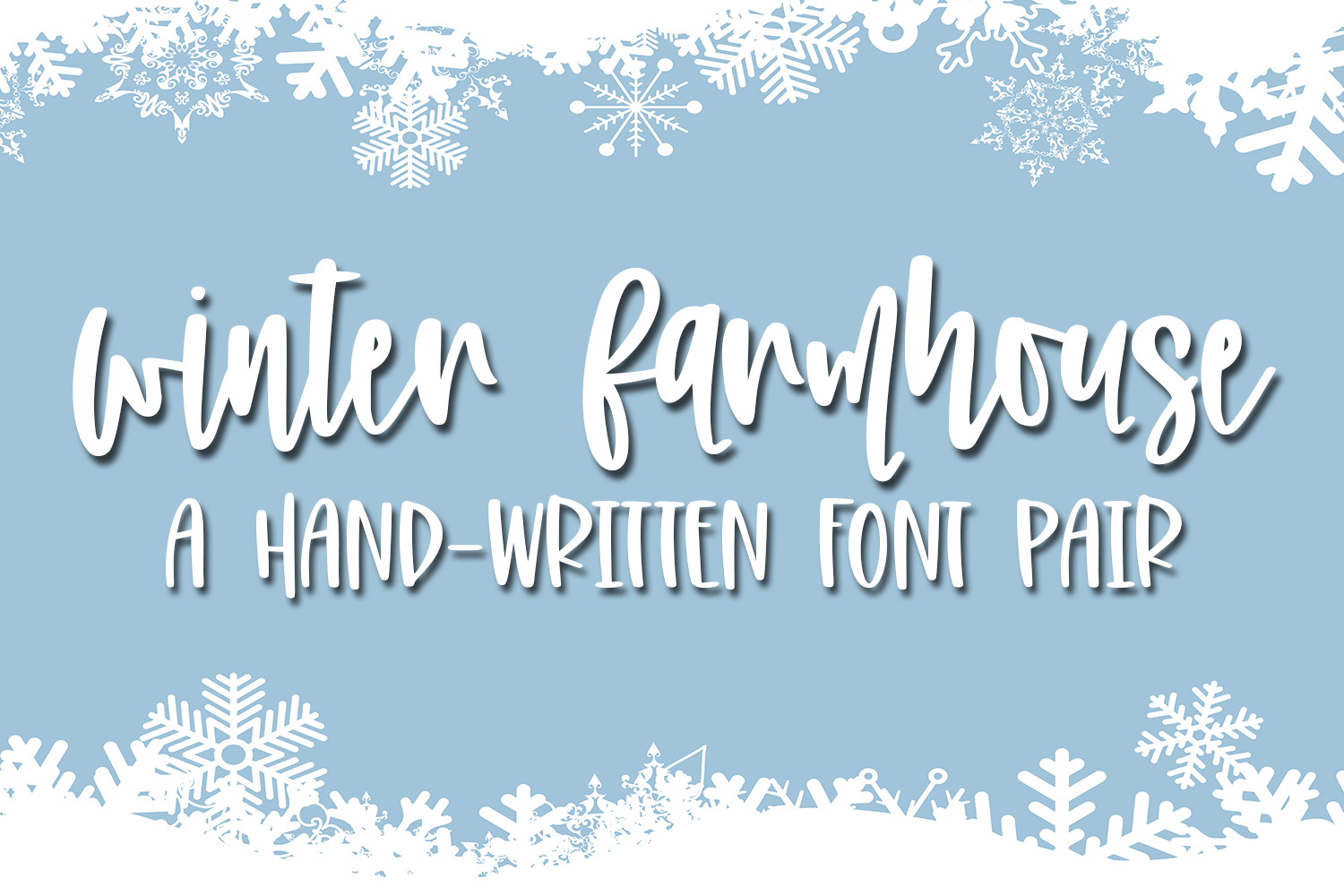 Winter Farmhouse - A Hand-Written Font Pair example image 1