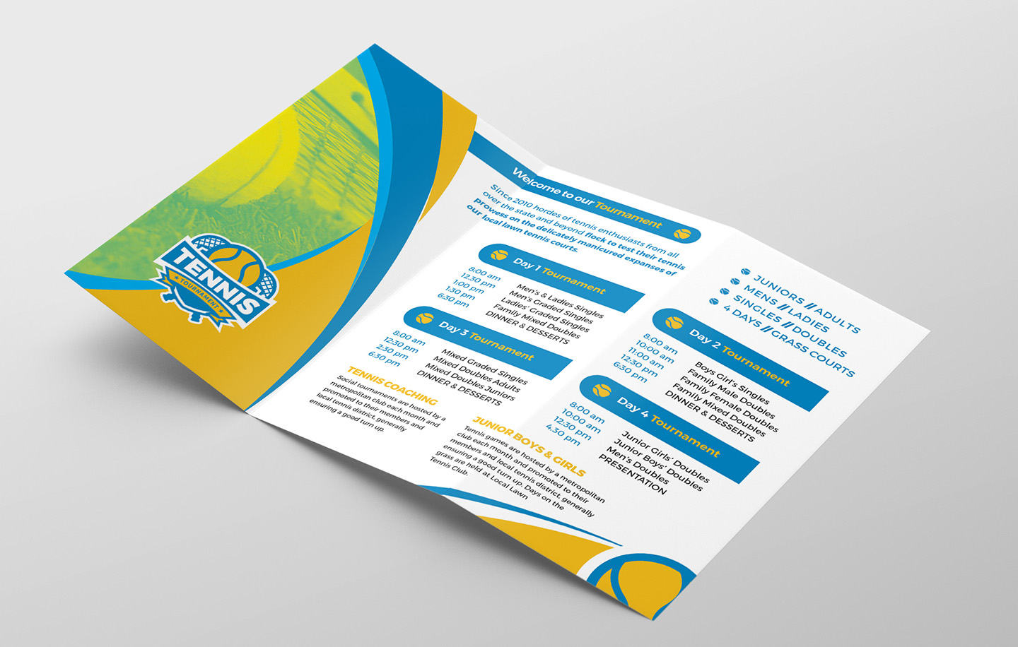 Tennis Tri-Fold Brochure Template example image 2