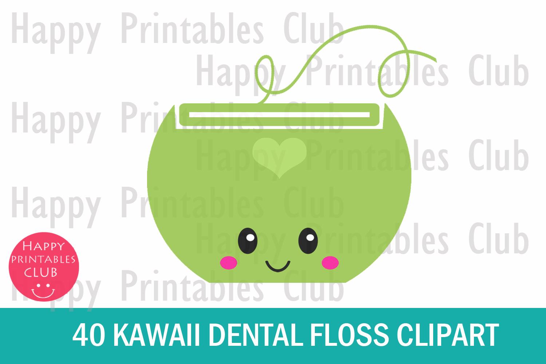 40 Kawaii Dental Floss Clipart- Dental Floss Clipart Images example image 2