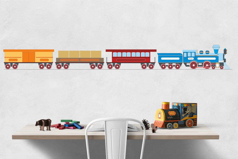 Steam Locomotive Clipart Train Clip Art Train Printable Locomotive Printable Boy Room Wall Art Locomotive Download Train Download