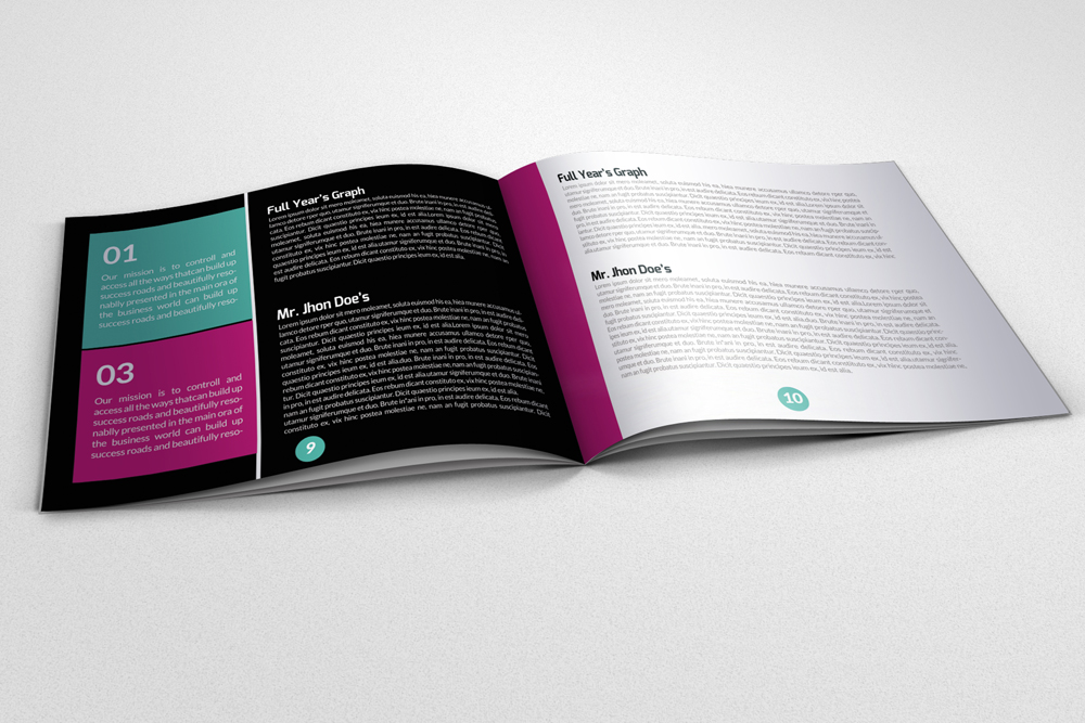 20 Pages Multi Use Minimal Square Brochure example image 6