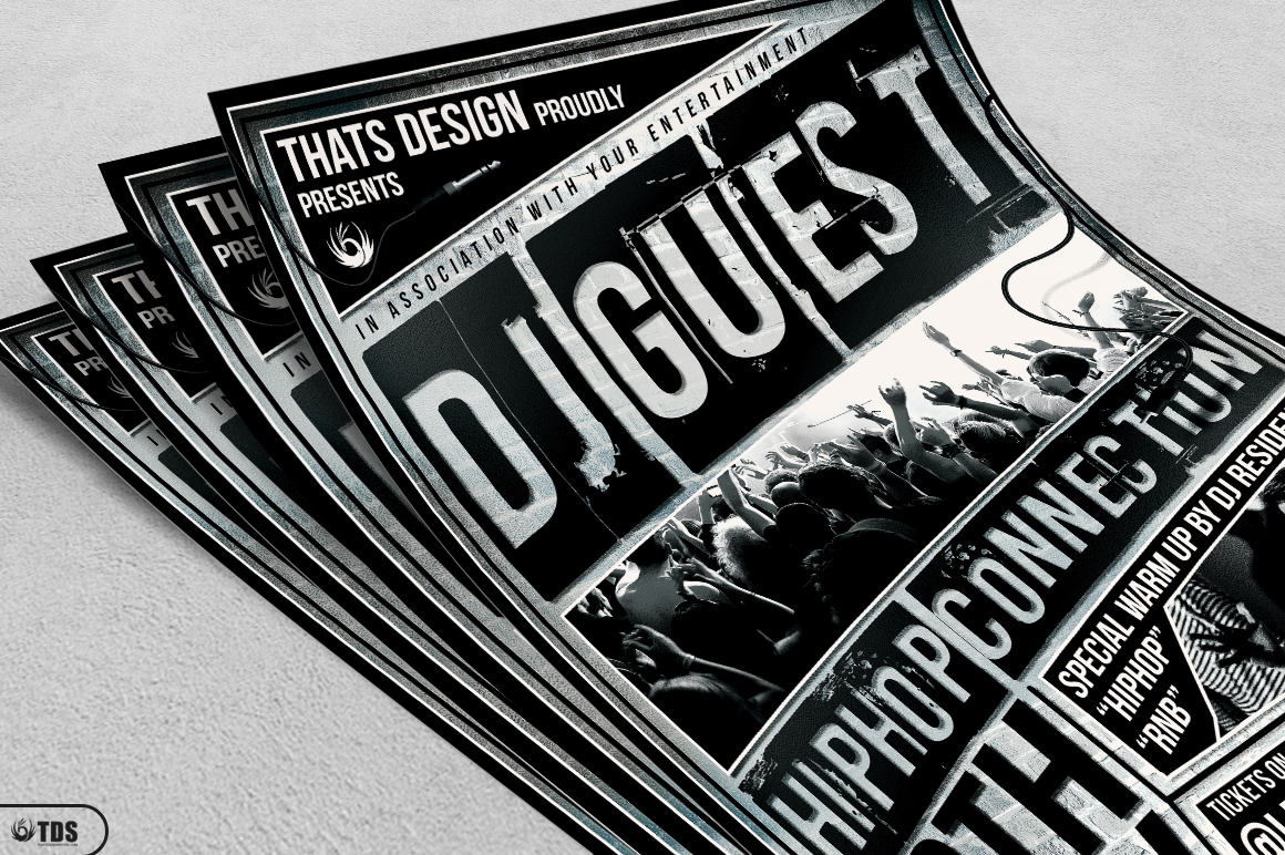 DJ Guest Flyer Template V2 example image 3