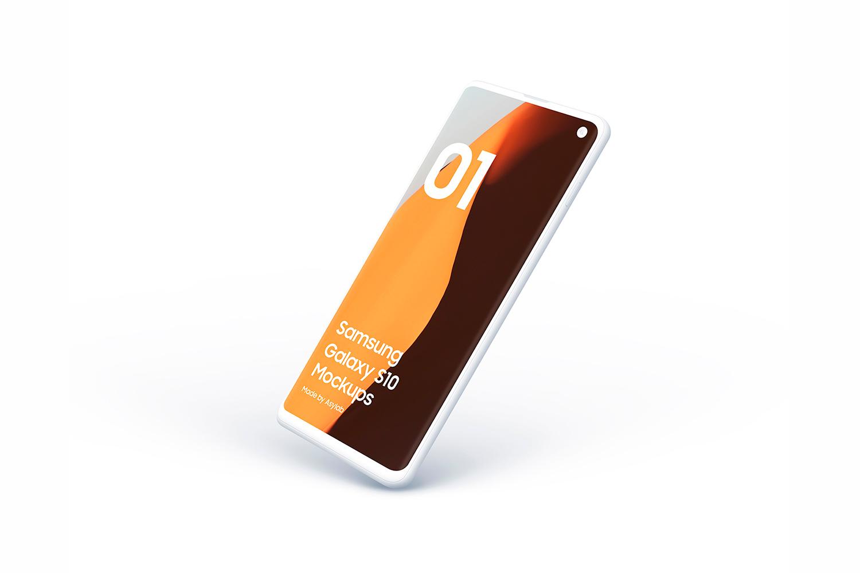 Samsung S10 - 21 Clay Mockups - 5K - PSD example image 24