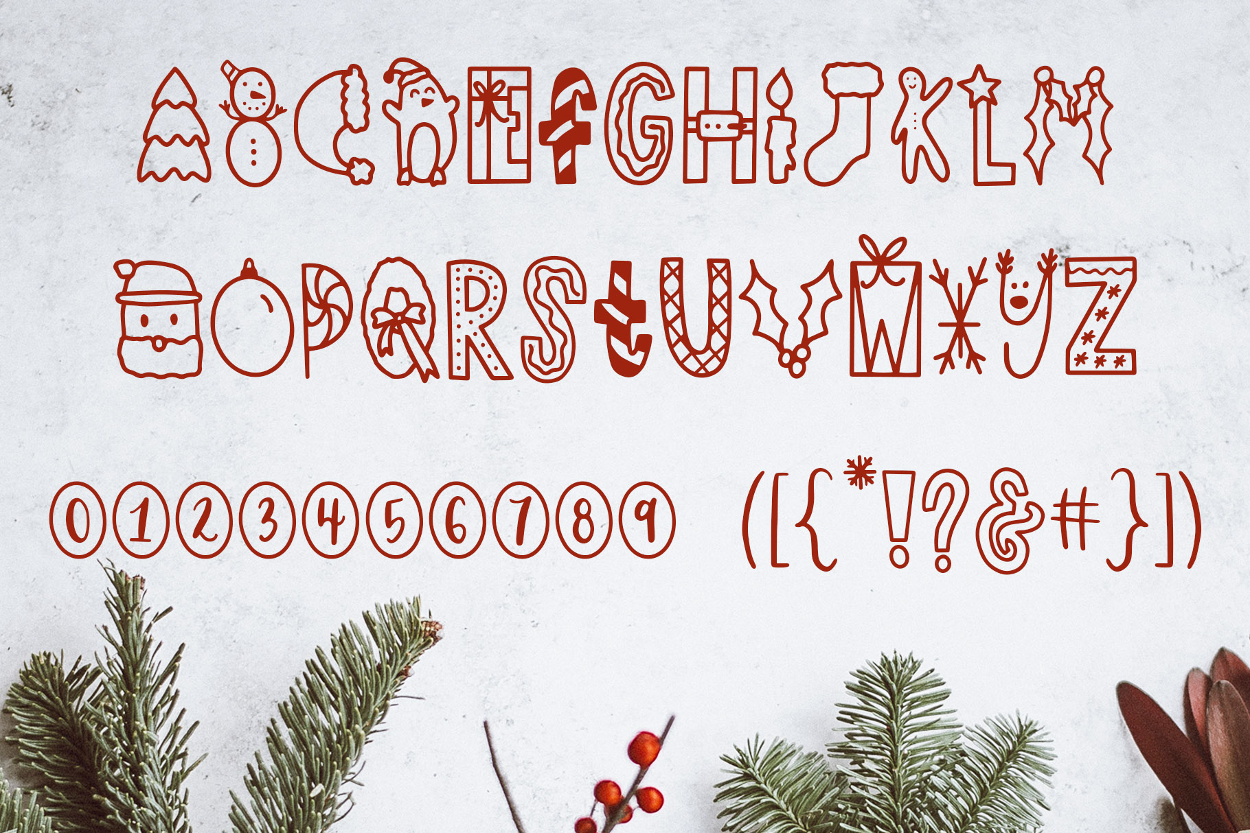 Dasher, A Christmas Holiday Symbols Font example image 8