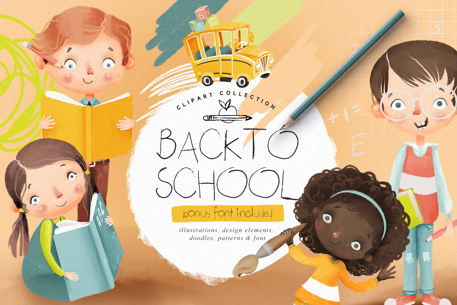 Back to School Clipart Collection example image 1