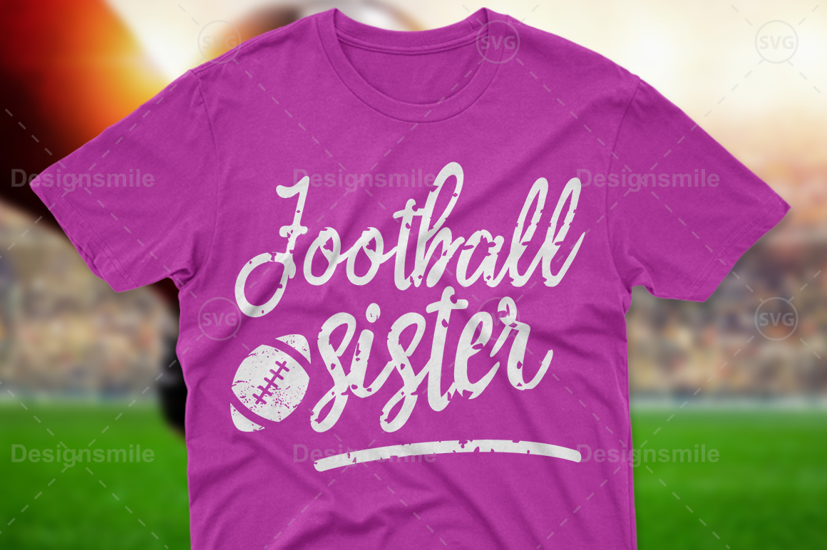 Football Sister SVG DXF PNG EPS Cutting Files example image 1