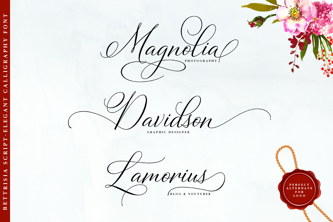 Bettrisia Script - Elegant Calligraphy Font example image 5