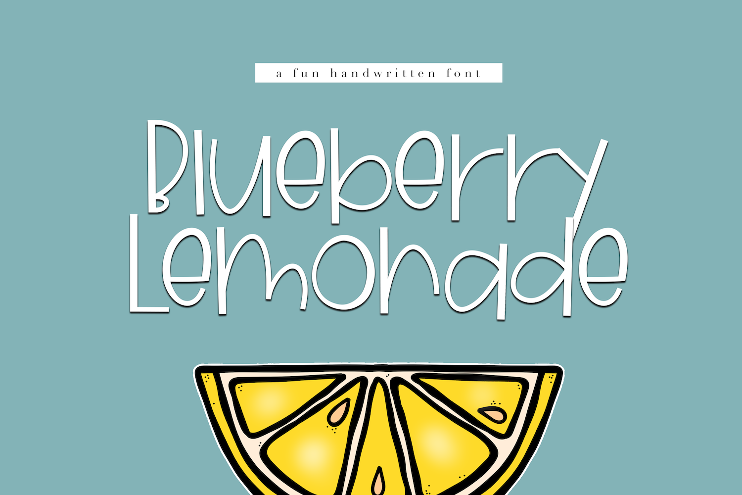 Blueberry Lemonade - A Fun Handwritten Font example image 1