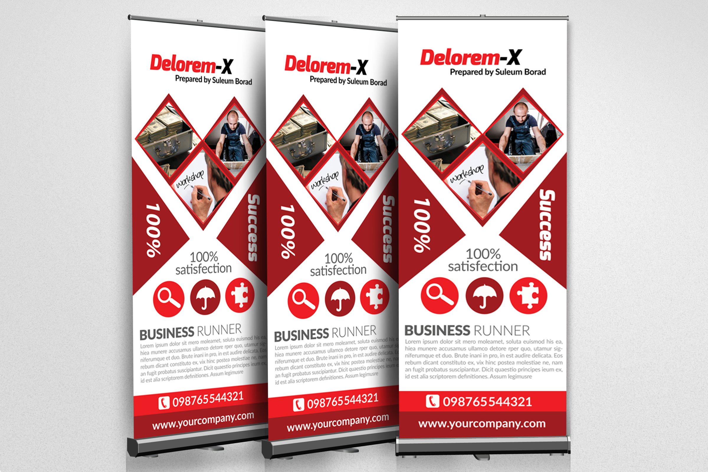 Business Respondent Roll Up Banners example image 2