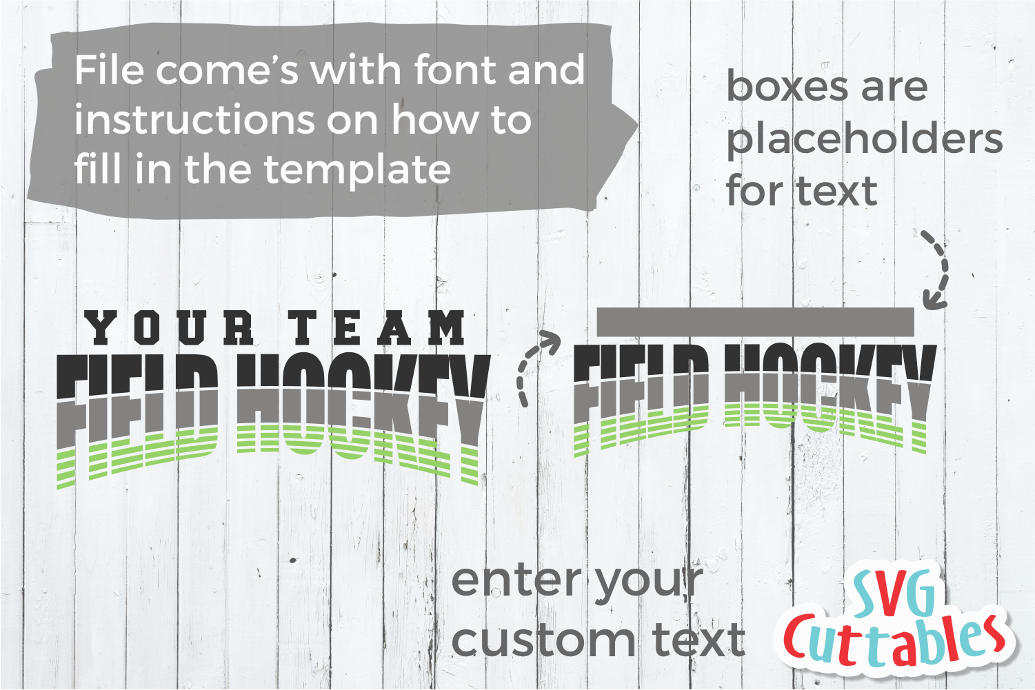 Field Hockey Template 002 | SVG Cut File example image 2