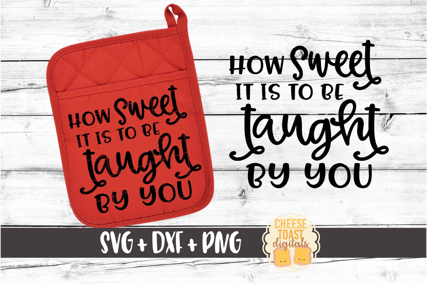 Pot Holder Bundle - Oven Mitt SVG PNG DXF Cut Files example image 5
