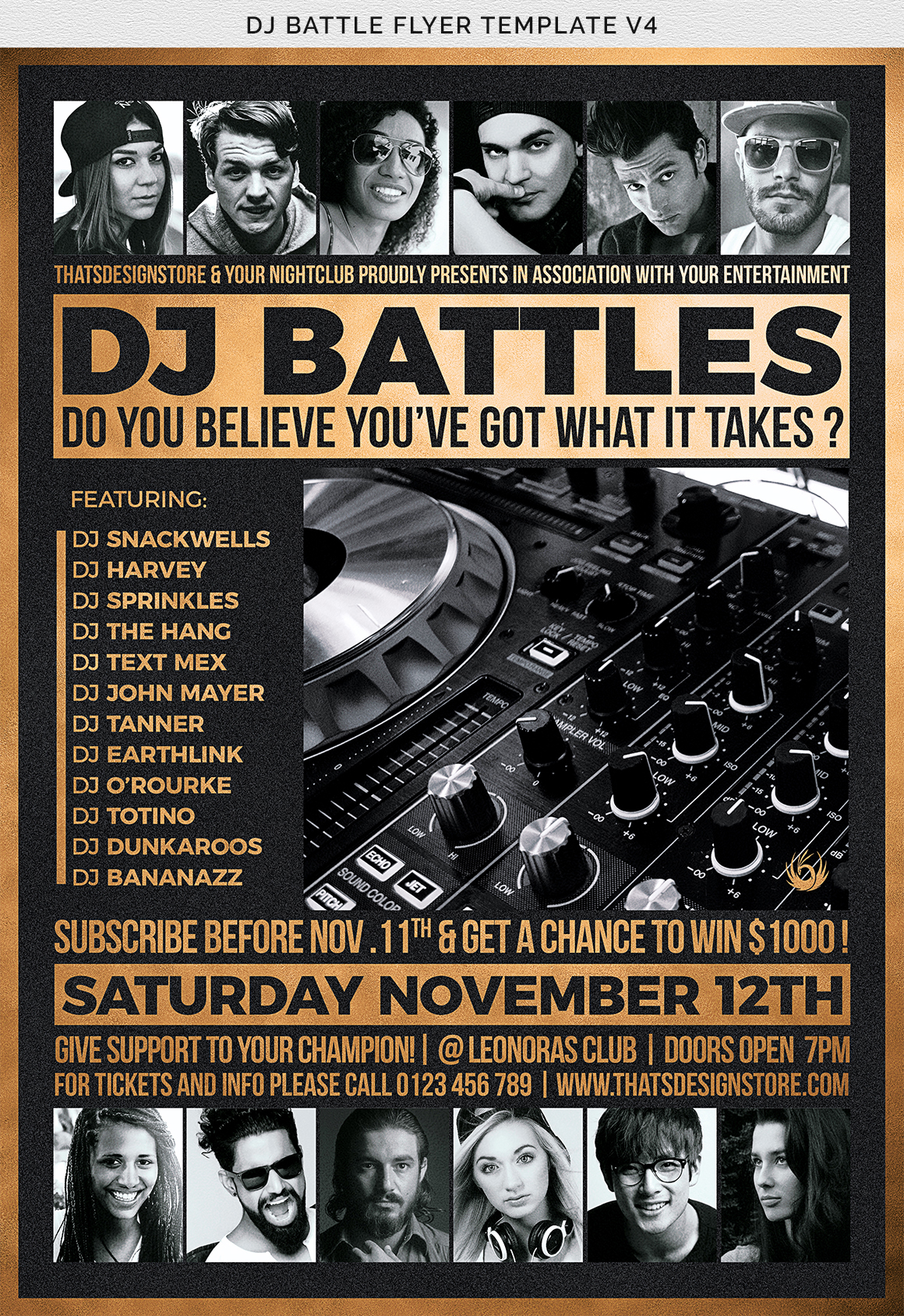 DJ Battle Flyer Template V4 example image 9