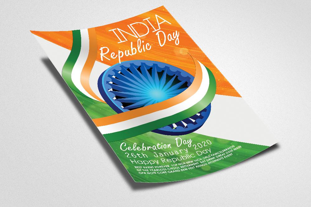 Indian Republic Day Celebration Flyer example image 2
