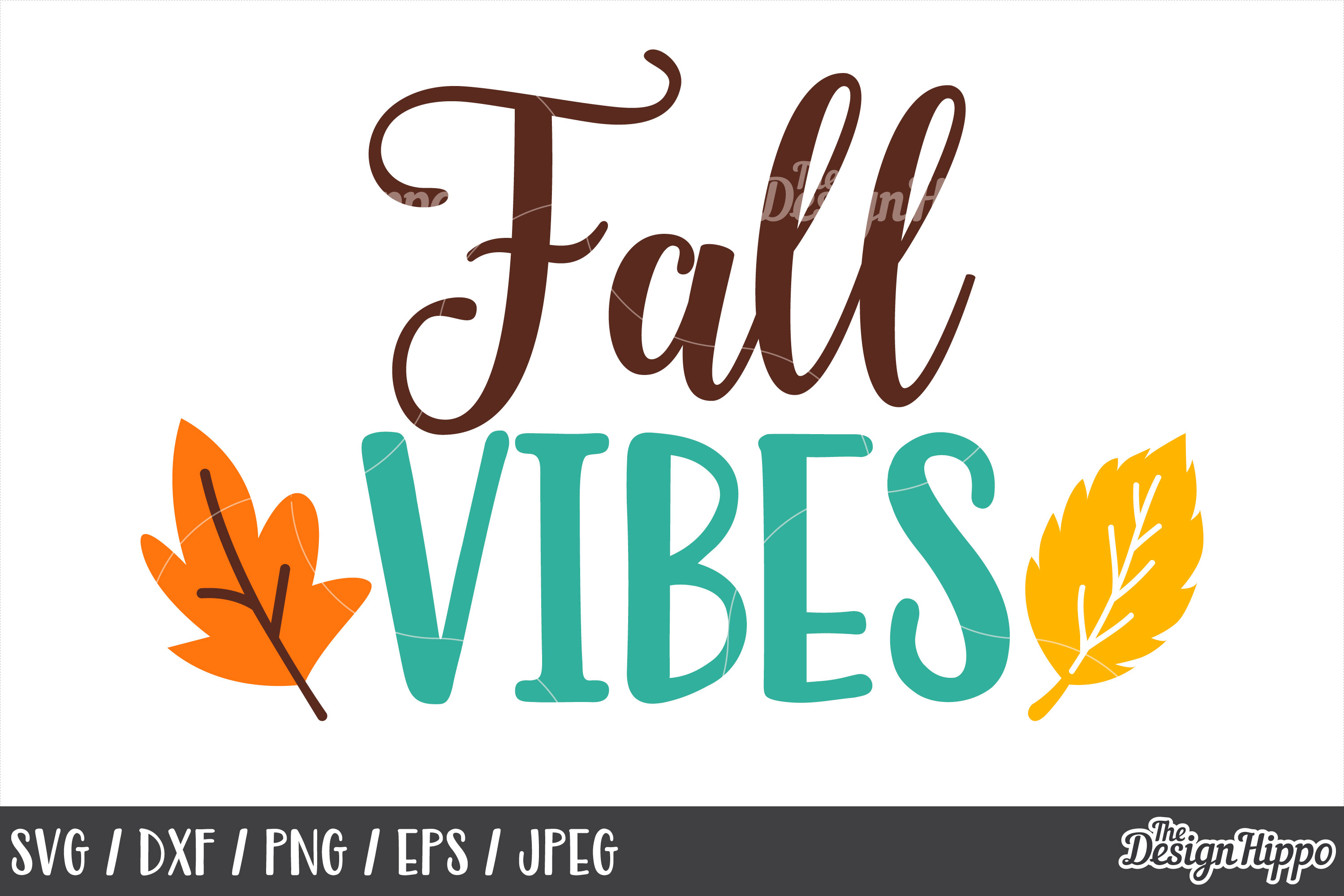 Fall Vibes SVG, DXF, PNG, JPEG, Cut Files, Cricut, Designs example image 1