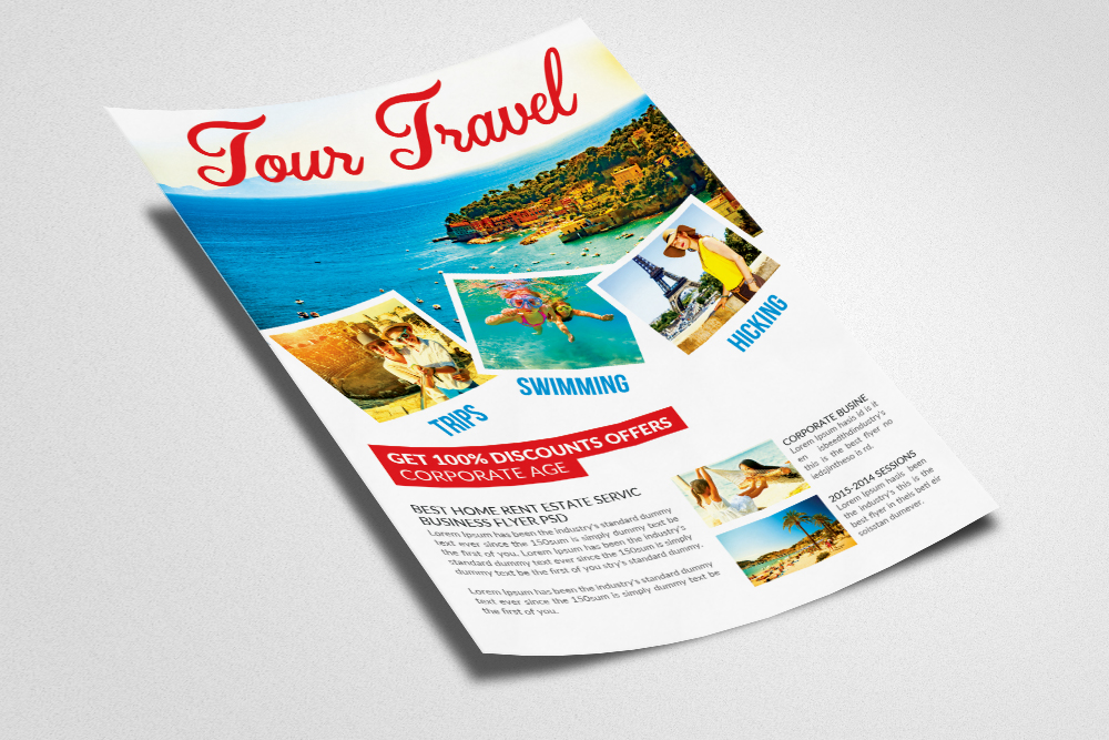 Holiday Tour/Travel Psd Flyer example image 2