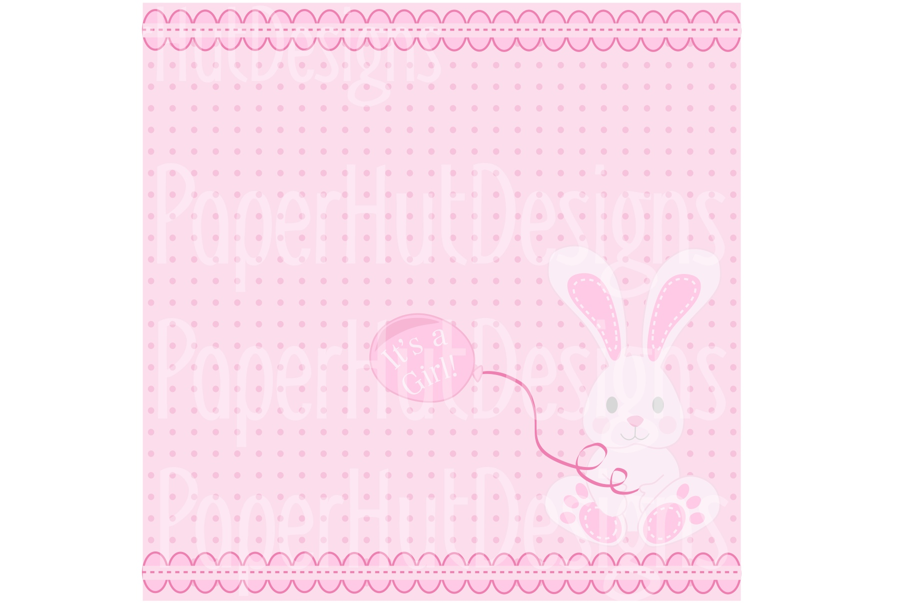 Baby Girl Clipart and Digital Papers Set example image 3
