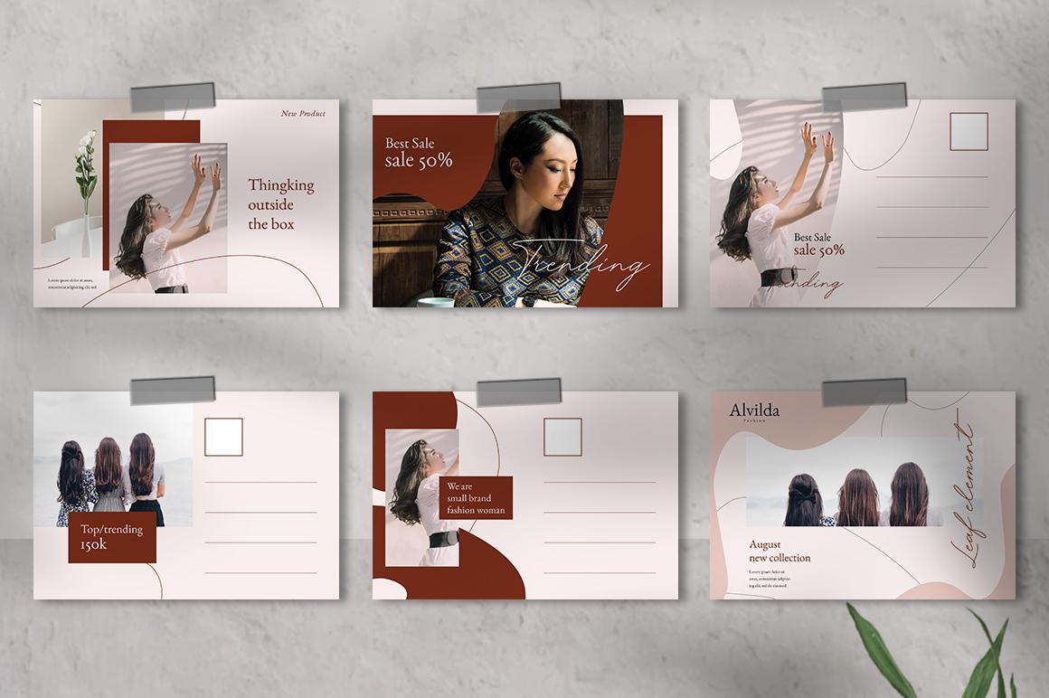 Alvida Postcard Templates example image 2