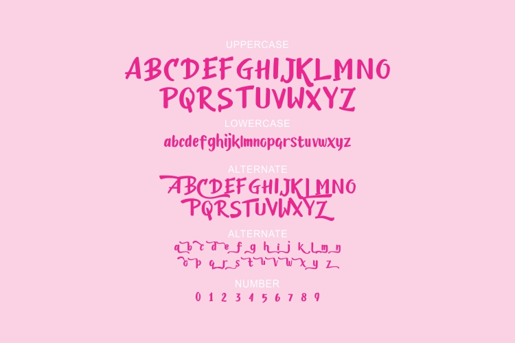 Candylove - Playful hand lettering brush font example image 2