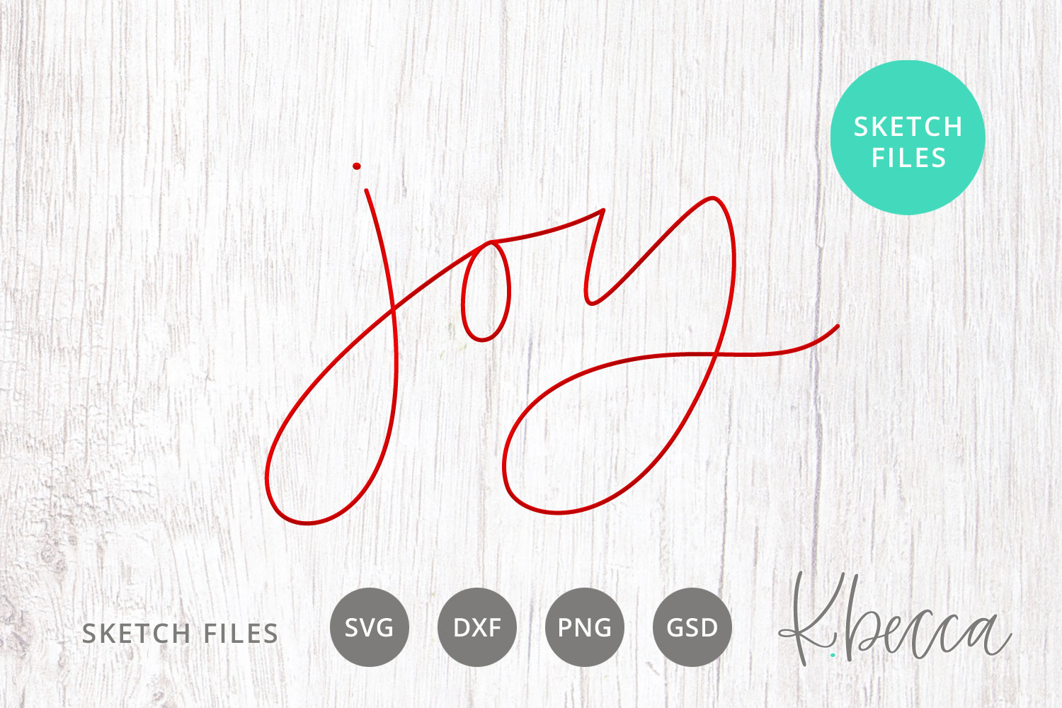 Foil Quill Sketch Joy SVG example image 1