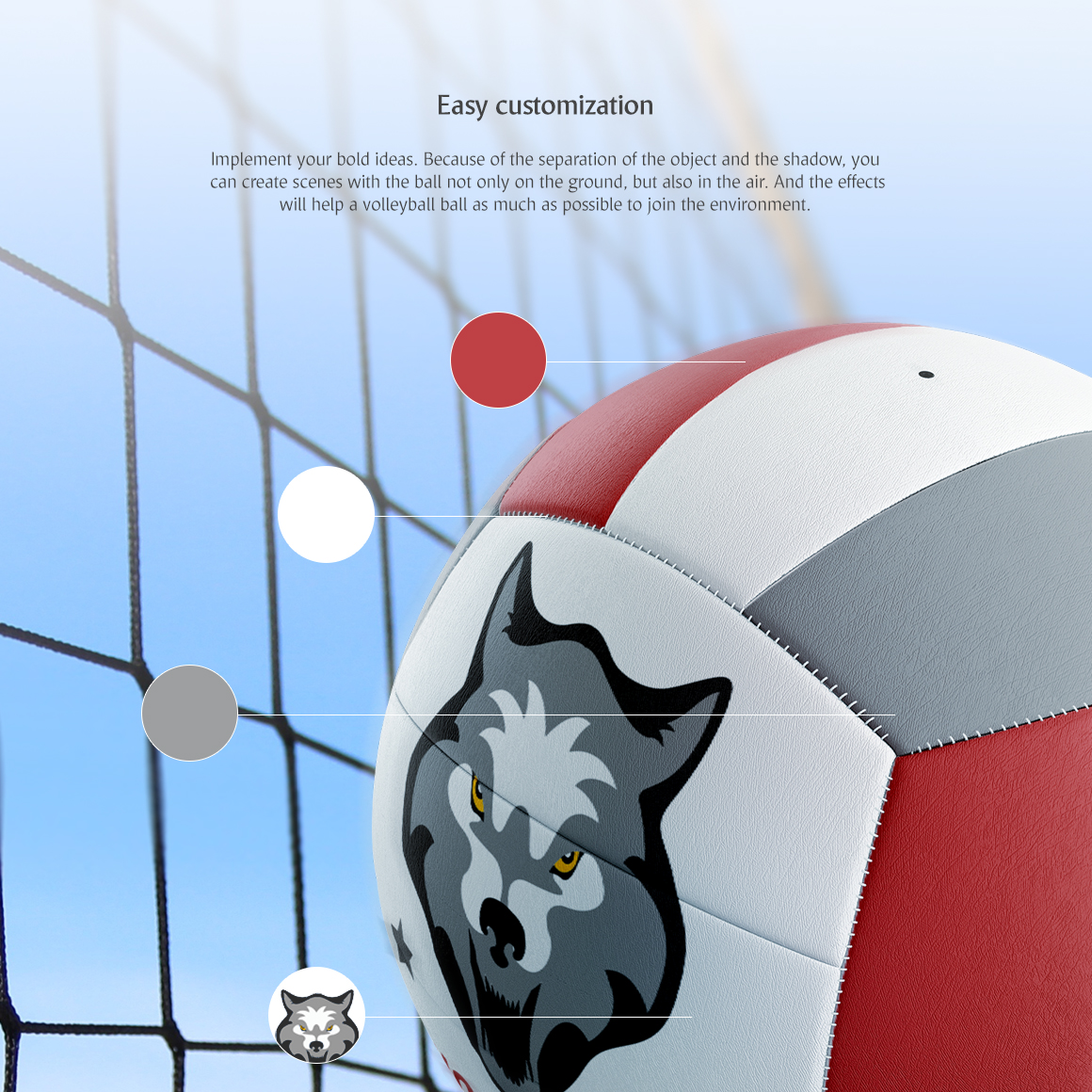 Volleyball Ball Animated Mockup example image 5
