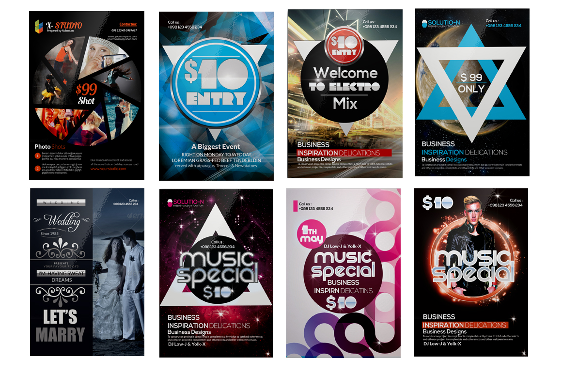 100 Party Flyers Bundle example image 4