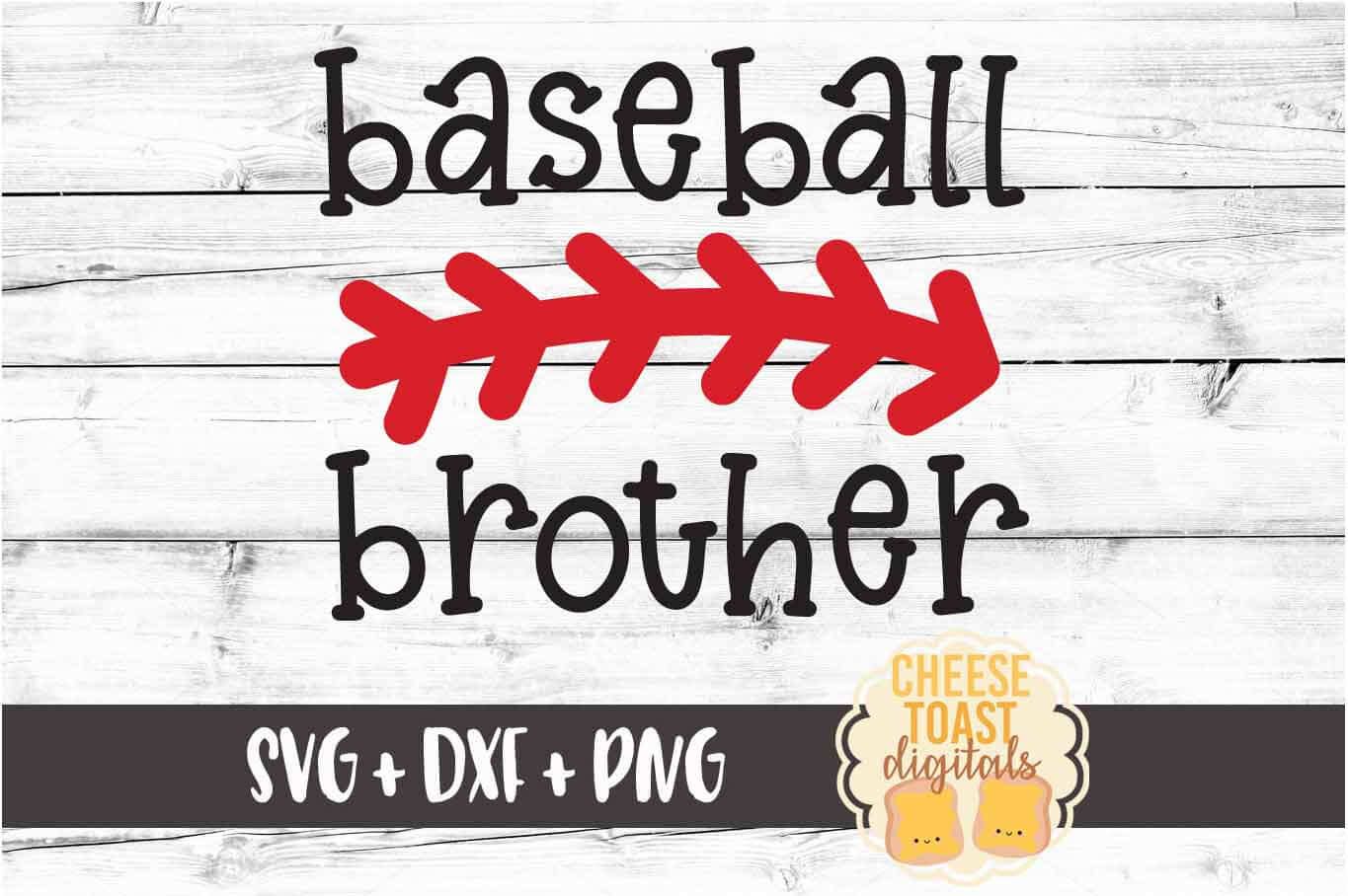 Baseball Brother - Baseball SVG PNG DXF Cut File example image 2
