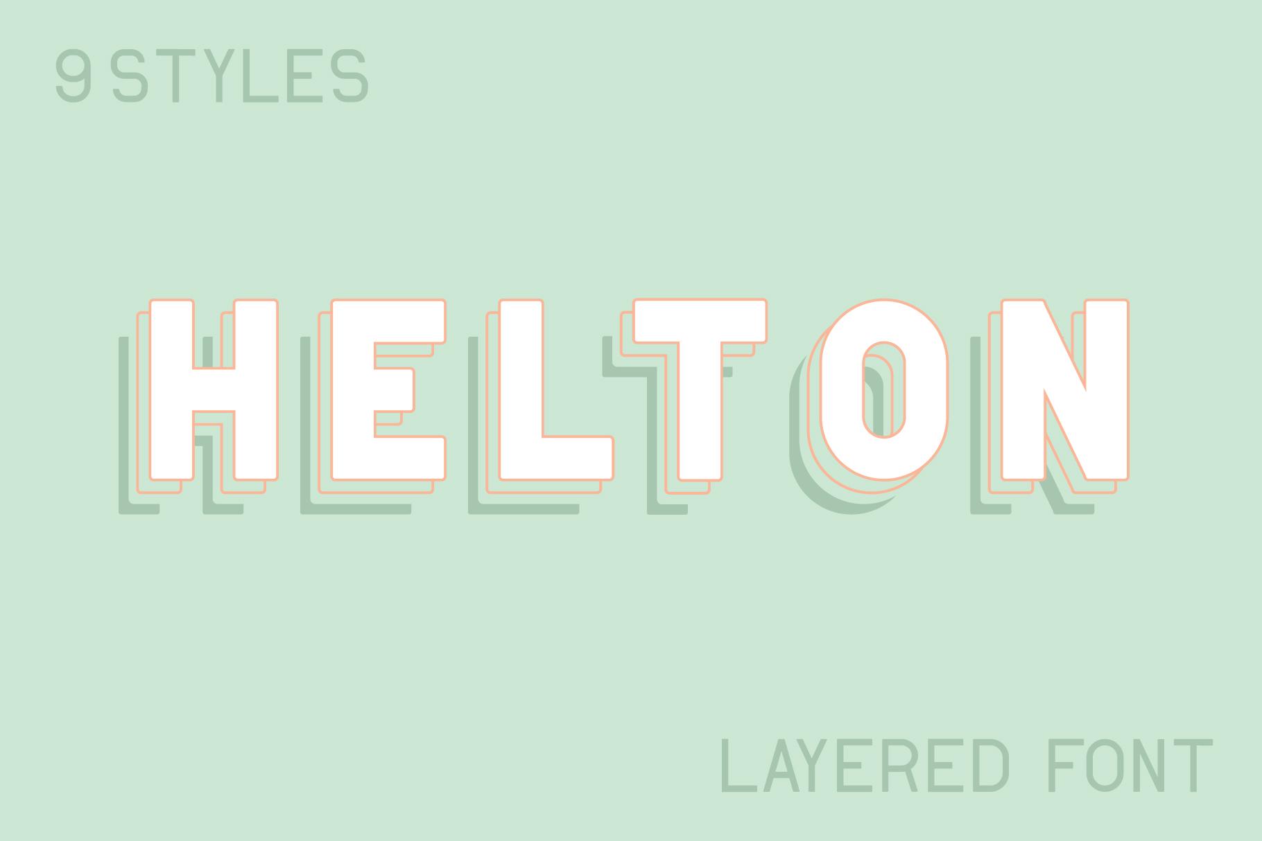 Helton Typeface example image 1