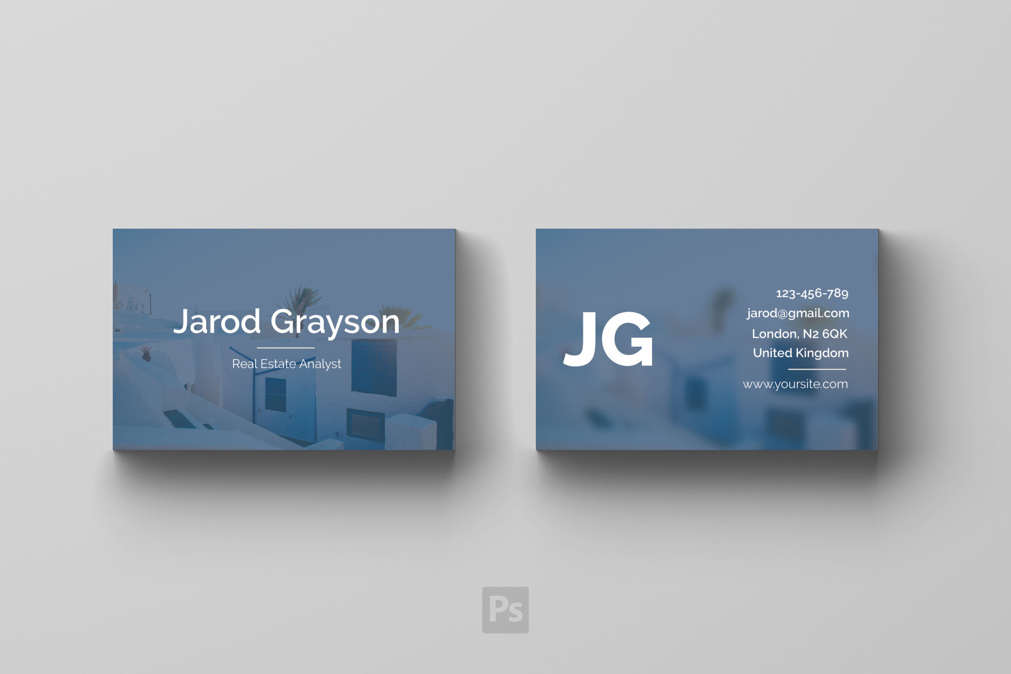Business Card Template - Real Estate example image 3