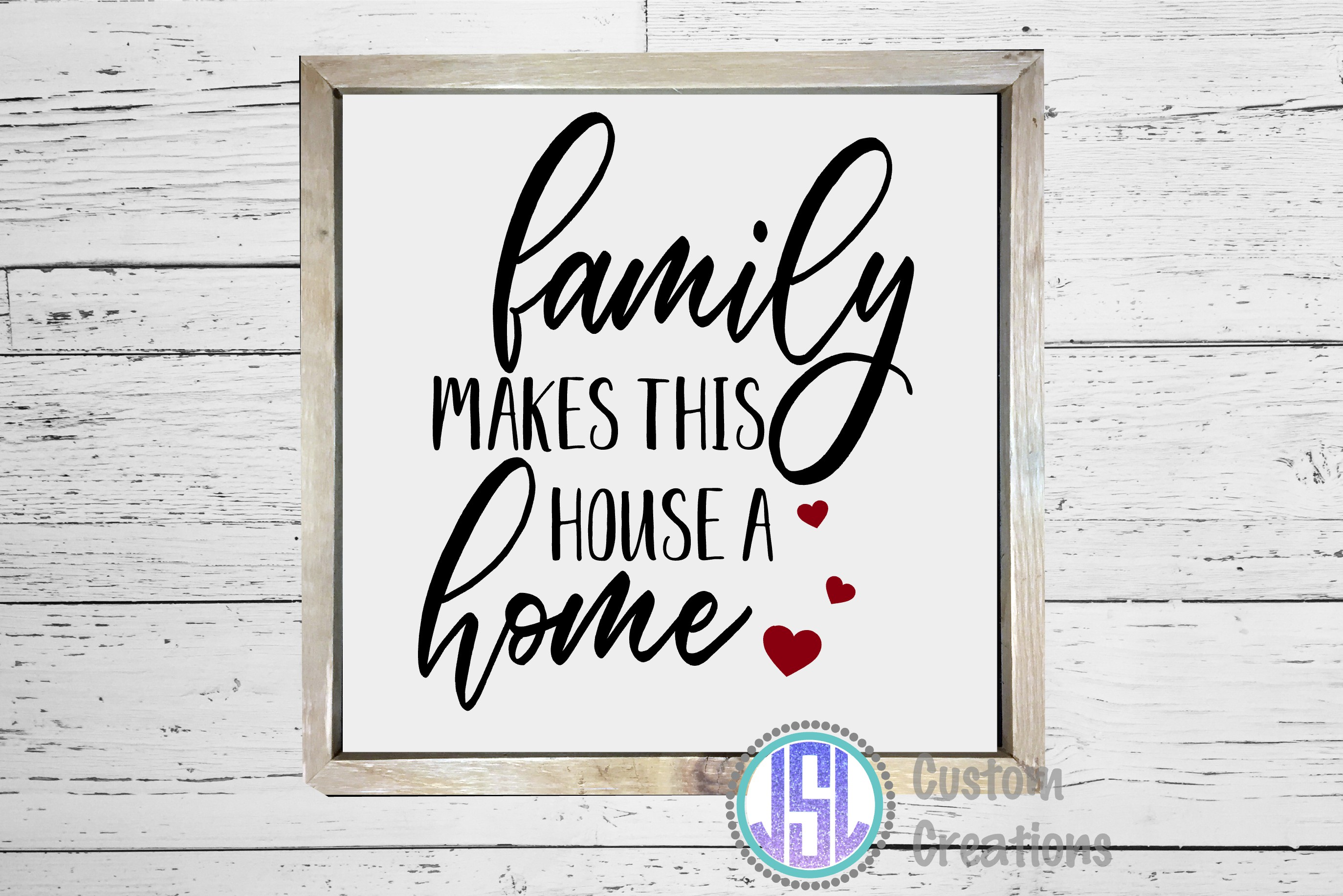 Family Makes This House a Home| SVG DXF EPS PNG example image 2