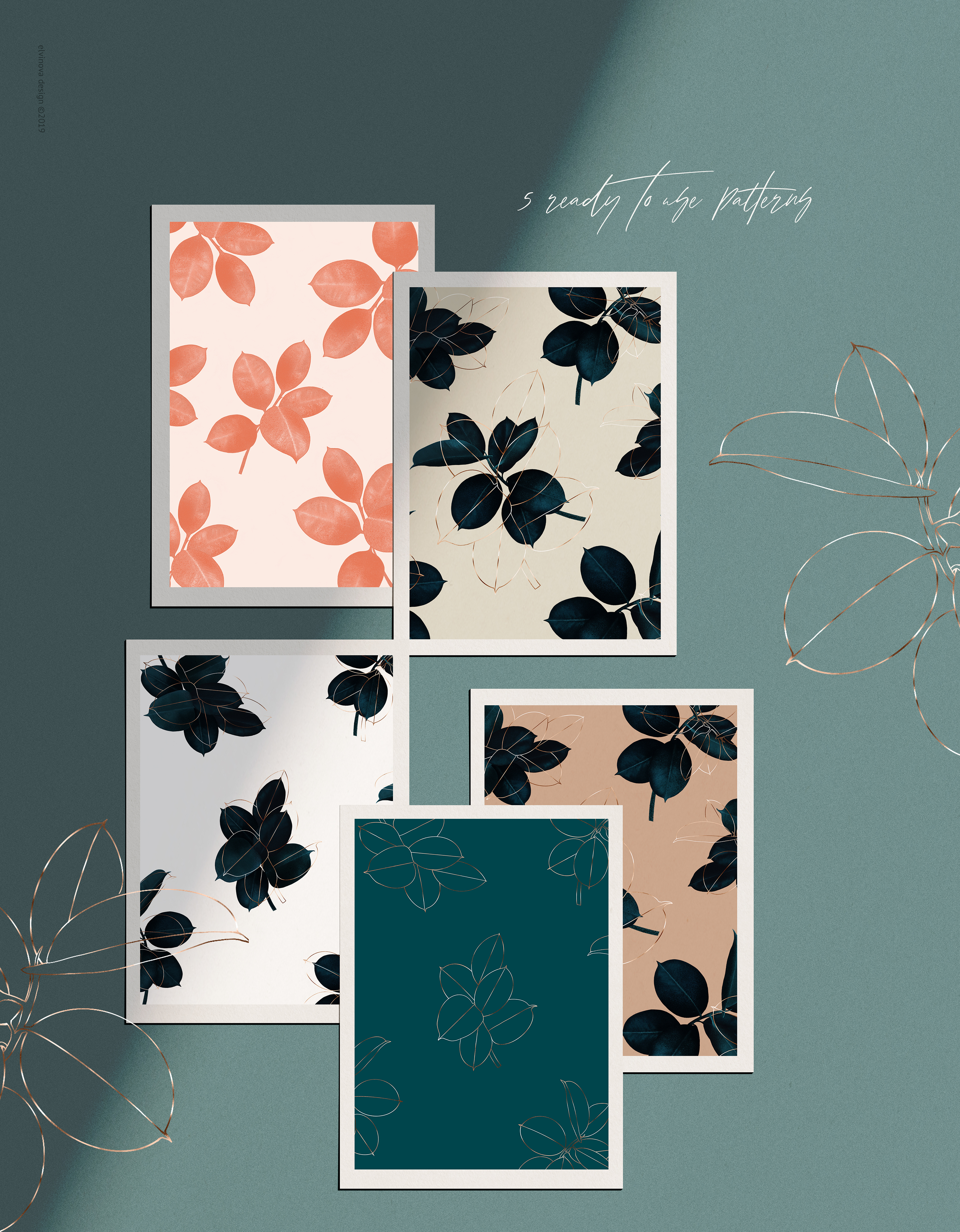 Ficus plant art & textures example image 13