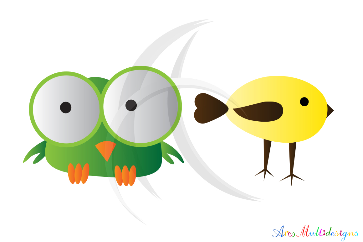 cute birds svg / bird clip art SVG /cute bird vector/ hand drawn doodle cute colourful birds / Eps / Png / printable graphics and illustrations example image 2
