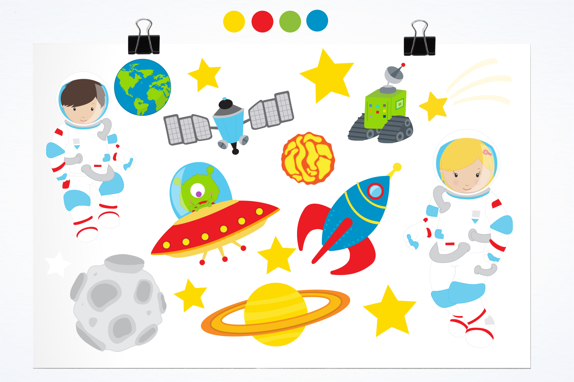 Space Explorers graphics and illustrations example image 2